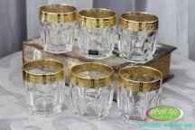 Bộ 6 cốc khảm vàng 24K CKV03