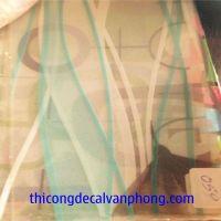 decal dán kính hoa văn