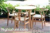 Bộ bàn ghế WISHBONE