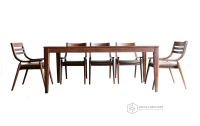 Bộ gỗ óc chó 004Table6TN | xuất khẩu châu Âu