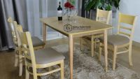 Bàn ghế gỗ phòng ăn giá rẻ | Bộ Mostar N1-4 | Nghĩa Funiture Hà Nội