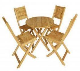 Bàn ghế xếp tre