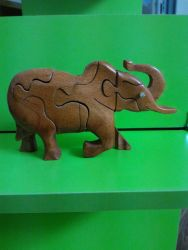con giống lắp ghép 3D gỗ xà cừ
