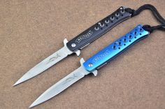 Dao xếp cá kiếm cán xanh đen dài 23cm