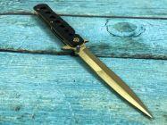 Dao xếp cá kiếm lưỡi vàng cán đen 23cm