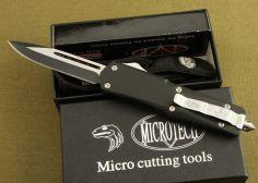 Dao bấm Microtech USA cán đen dài 23cm
