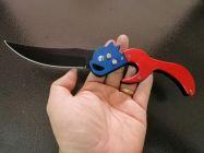 Dao bấm đầu lân màu đỏ xanh dài 24cm