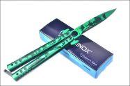 Dao Bướm Balisong xanh lục quân dài 23cm