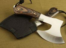 Rìu Viking Cán gỗ bỏ túi dài 20cm