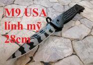 Dao bấm M9 USA lính Mỹ Black 28cm new