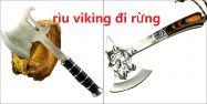 Rìu đi rừng Viking đầu sói đầu bò