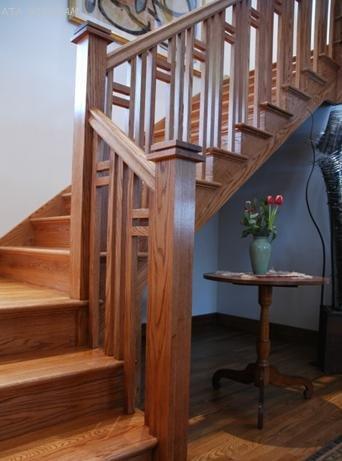 Cầu thang gỗ PT 006
