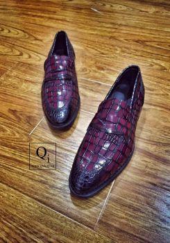Giày da CRAZIM Cá Sấu Nâu