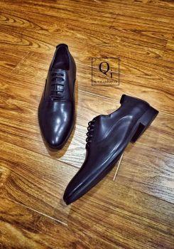 Giày da CRAZIM Đen Trơn