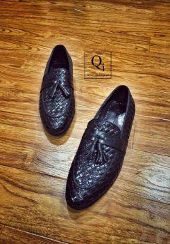 Giày da CRAZIM Đan Chuông Đen