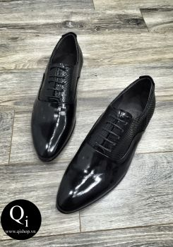 Giày da CRAZIM Cổ Rắn Đen