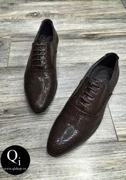 Giày da CRAZIM rắn hết nâu
