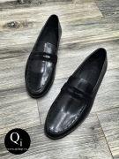 Giày da CRAZIM E608-5 ánh đen