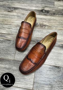 Giày da CRAZIM Y30201C vàng nâu