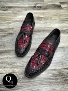 Giày da CRAZIM 52260C đỏ đen