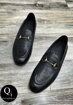 Giày da CRAZIM E710-1 đen sần