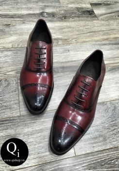 Giày da CRAZIM E9044-1 đỏ