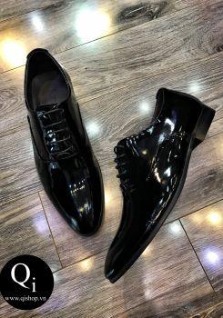 Giày da CRAZIM Đen Trơn Bóng