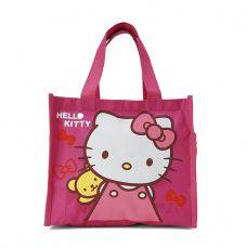 Túi đựng cơm + nước uống 3 ngăn loại trung Kitty hồng đậm