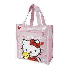 Túi đựng cơm + nước uống và vật dụng 4 ngăn Kitty hồng nhạt