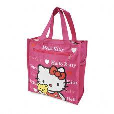 Túi đựng cơm + nước uống và vật dụng 4 ngăn - Kitty hồng đậm