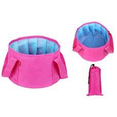 Túi lớn ngâm chân thư giản kèm túi đựng - hồng