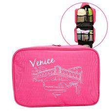 Túi đựng mỹ phẩm, đồ dùng cá nhân chống thấm Dundes - hồng