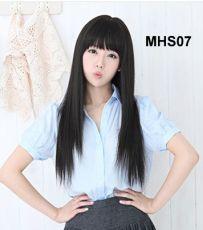 Bộ Tóc Thẳng Đen MHS07( tặng trùm tóc)