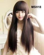 Bộ Tóc Thẳng Hàn Quốc - Nâu Đen MHS 18( tặng trùm tóc)