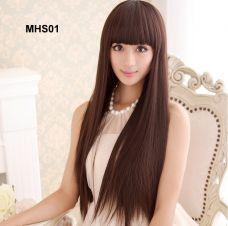 Bộ Tóc Thẳng Hàn Quốc - Nâu Hạt Dẽ MHS01( tặng trùm tóc)