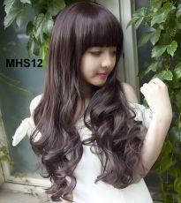 Bộ Tóc Xoăn Mái Ngang MHS12( tặng trùm tóc)