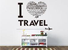 Decal Tôi Yêu Travel