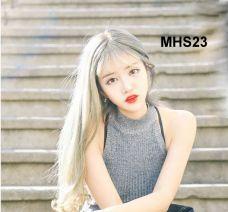 Bộ Tóc Dài Mái Thưa Bạch Kim MHS23 ( tặng trùm tóc)