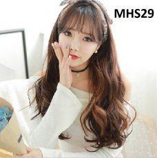Bộ Tóc Xoăn Nâu Đỏ MHS29( tặng trùm tóc)