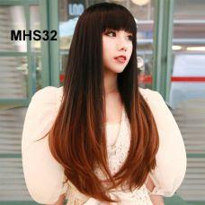 Bộ Tóc Dài Cúp Đuôi Ombre Nâu Cam MHS32( tặng trùm tóc)