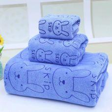 Bộ 3 Khăn Tắm 1M4- Hồng, xanh dương