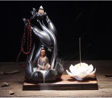 Tháp Đốt Trầm Hình Bàn Tay Phật (TẶNG 1 HỘP TRẦM 50 VIÊN) hết quan âm trắng