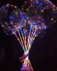 Bóng Bay Galaxy Kèm Cây Và Đèn Led