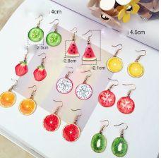Set 5 đôi bông tai hình trái cây