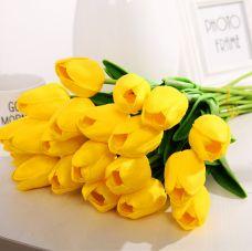 Bó 10 Hoa Tulip Cao Su Cao Cấp