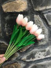 Bó Hoa Tulip Cao Su Cao Cấp ( trắng, trắng hồng)