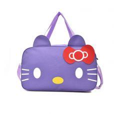 Túi Xách Du Lịch Mèo Hello Kitty ( tím, đen)