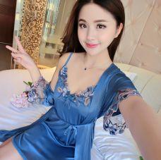 Đầm Ngủ Kèm Áo Thêu Mẫu Mới