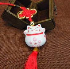 Dây Treo Mèo Thần Tài Sứ