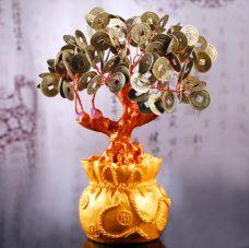 Cây Tài Lộc Đồng Tiền Xu Chiêu Tài 18.5cm